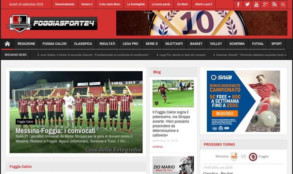 Realizzazione sito web Foggiasport24